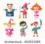 children in holiday  party ... | Shutterstock . vector #462021085