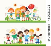 children and their hobbies and... | Shutterstock . vector #462021121