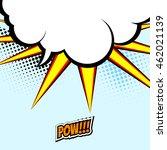 dynamic comic speech bubble for ... | Shutterstock .eps vector #462021139