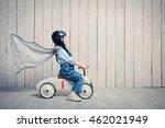 little boy with a car in studio | Shutterstock . vector #462021949