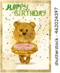 happy birthday card with fun... | Shutterstock . vector #462024397