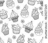 seamless pattern in doodle... | Shutterstock .eps vector #462027265