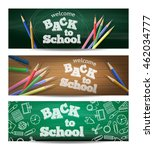 set of three horizontal banners.... | Shutterstock .eps vector #462034777