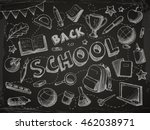 back to school background in... | Shutterstock .eps vector #462038971