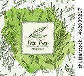 watercolor background with tea... | Shutterstock .eps vector #462039217