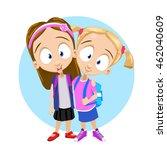 vector cartoon illustration of... | Shutterstock .eps vector #462040609