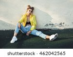 outdoors lifestyle portrait of... | Shutterstock . vector #462042565