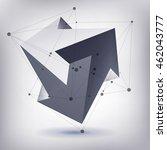 impossible shape  unreal arrows ... | Shutterstock .eps vector #462043777
