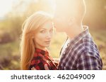 pretty couple in love  outdoor... | Shutterstock . vector #462049009