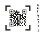 concept of qr scanning   ... | Shutterstock .eps vector #462057331