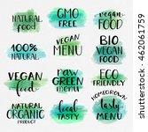healthy food lettering... | Shutterstock .eps vector #462061759