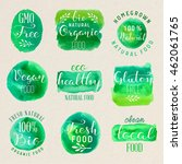 healthy food lettering... | Shutterstock .eps vector #462061765