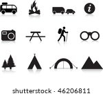 camping and outdoor simple... | Shutterstock .eps vector #46206811