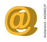 arroba symbol social icon... | Shutterstock .eps vector #462068119
