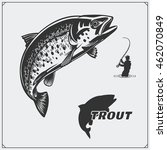 vector illustration of a trout... | Shutterstock .eps vector #462070849