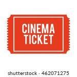ticket paper cinema icon vector ... | Shutterstock .eps vector #462071275