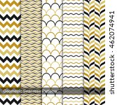 geometric seamless patterns set ... | Shutterstock .eps vector #462074941