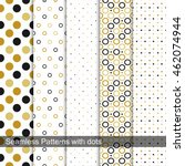 dotted seamless patterns in... | Shutterstock .eps vector #462074944