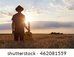 musician holding acoustic... | Shutterstock . vector #462081559