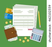 concept of tax payment and... | Shutterstock .eps vector #462102559