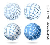 globe. vector design elements. | Shutterstock .eps vector #46211113