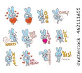 Cute Bunny Character Emoticons...