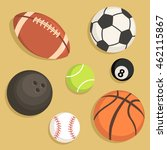 vector illustration of rugby... | Shutterstock .eps vector #462115867
