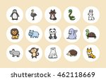 funny animals icons set eps10