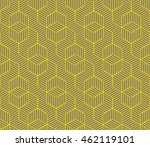 seamless gray and yellow... | Shutterstock . vector #462119101