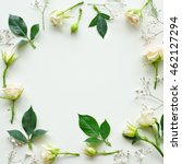 assorted roses heads on white... | Shutterstock . vector #462127294