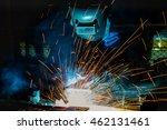 welder is welding in factory   | Shutterstock . vector #462131461