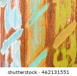 wood wall colourful vintage and ... | Shutterstock . vector #462131551