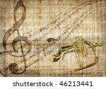 an illustration about musical... | Shutterstock . vector #46213441