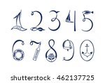 Set Of The Marine Numerals....