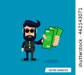 business man with money in his... | Shutterstock .eps vector #462143071