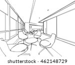 interior outline sketch drawing ... | Shutterstock .eps vector #462148729