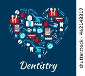 dentistry banner with icons.... | Shutterstock .eps vector #462148819