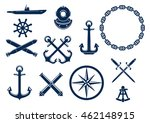 Marine And Nautical Flat Icons...