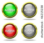 set of glass accept   reject... | Shutterstock . vector #46215238