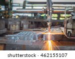 gas cutting steel and fire... | Shutterstock . vector #462155107