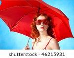 portrait of elegant woman in... | Shutterstock . vector #46215931
