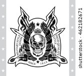 skull front view in center of... | Shutterstock .eps vector #462182671