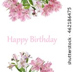 vintage floral card. beautiful... | Shutterstock . vector #462186475