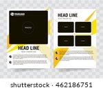 flyer brochure template with...   Shutterstock .eps vector #462186751