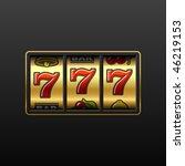 lucky seven on slot machine....   Shutterstock .eps vector #46219153