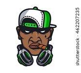 dj character in cartoon vector... | Shutterstock .eps vector #462207235