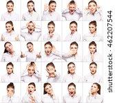 hamming woman. female different ... | Shutterstock . vector #462207544