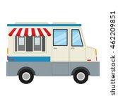 flat design ice cream truck... | Shutterstock .eps vector #462209851