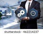 "glowing icon ""development"" in... | Shutterstock . vector #462214237"