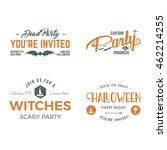 halloween 2016 party invitation ... | Shutterstock .eps vector #462214255